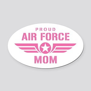 Proud Air Force Mom W [pink] Oval Car Magnet